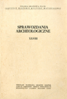 Sprawozdania Archeologiczne T. 28 (1976), Nekrologi