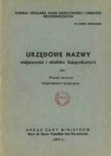 Urzędowe nazwy miejscowości i obiektów fizjograficznych. Nr186; Powiat świecki województwo bydgoskie