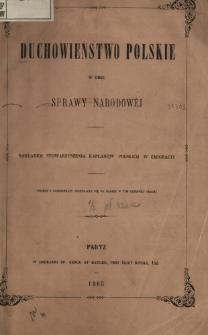 Duchowieństwo polskie wobec sprawy narodowej