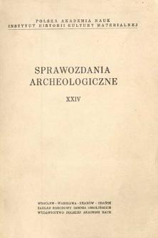 Sprawozdania Archeologiczne T. 24 (1972), Omówienia i recenzje
