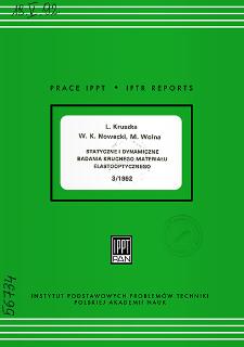 Statyczne i dynamiczne badania kruchego materiału elastooptycznego
