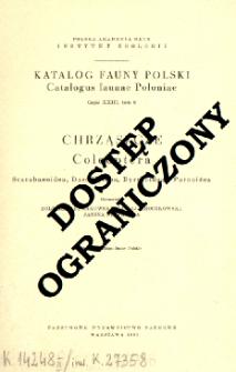 Chrząszcze = Coleoptera : Scarabaeoidea, Dascilloidea, Byrrhoidea i Parnoidea
