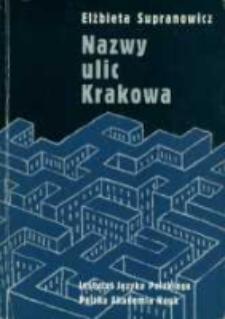 Nazwy ulic Krakowa