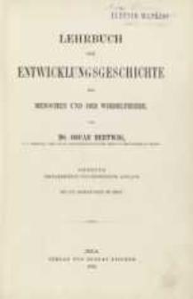 Lehrbuch der Entwicklungschichte des Menschen und der Wirbelthiere