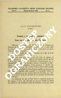 Note sur des Odonates des Pyrénées = Notatka o ważkach pirenejskich