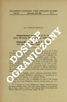 Limnocalanus macrurus G. O. Sars, nowy dla fauny Polski gatunek widłonogów = Limnocalanus macrurus G. O. Sars, eine für Polen neue Copepoden - Art