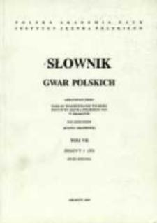 Słownik gwar polskich. T. 7 z. 1 (20), Dużo-Dziama