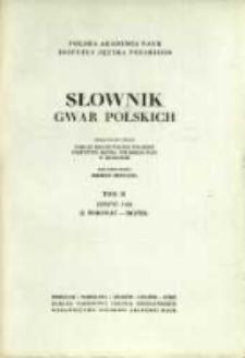 Słownik gwar polskich. T. 2 z. 3(6), I. Borować - Brzód