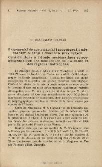 Przyczynki do systematyki i zoogeografji mięczaków Albanji i obszarów przyległych