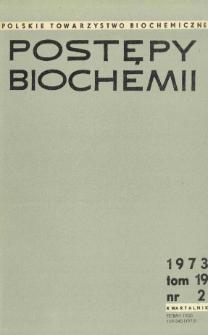 Postępy biochemii, Tom 19, Nr 2