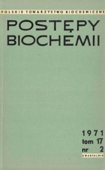 Postępy biochemii, Tom 17, Nr 2
