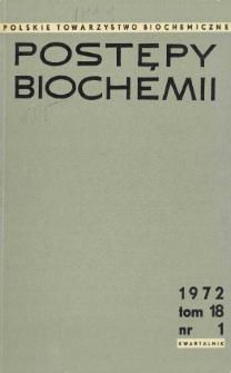 Postępy biochemii, Tom 18, Nr 1