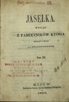 Jasełka : wyciąg z pamiętników Ktosia. T. 3