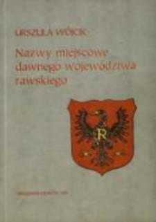Nazwy miejscowe dawnego województwa rawskiego
