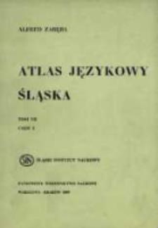 Atlas językowy Śląska. T. 7 cz. 2, Wykazy i komentarze do map 1251-1500