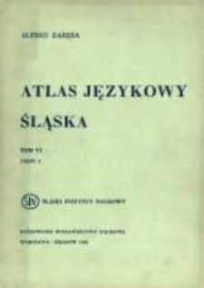 Atlas językowy Śląska. T. 6 cz. 2, Wykazy i komentarze do map 1001-1250