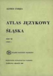 Atlas językowy Śląska. T. 7 cz. 1, Mapy 1251-1500