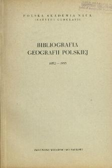 Bibliografia Geografii Polskiej 1952-1953