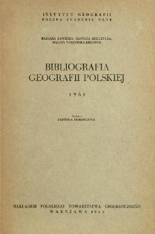 Bibliografia Geografii Polskiej 1961