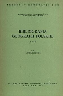 Bibliografia Geografii Polskiej 1962