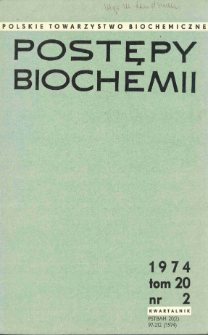 Postępy biochemii, Tom 20, Nr 2