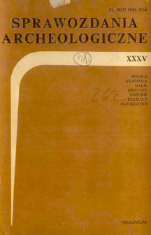 Sprawozdania Archeologiczne T. 35 (1983), Nekrologi