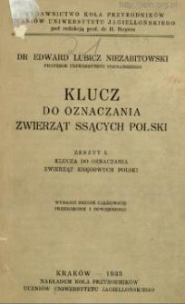 Klucz do oznaczania zwierząt ssących Polski