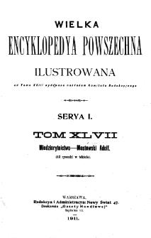 Wielka encyklopedya powszechna ilustrowana. T. 47-48, Miedziorytnictwo - Mzabici i Dopełnienia do Lit. M.