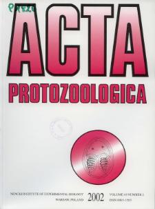Acta Protozoologica Vol. 41 Nr 2 (2002)