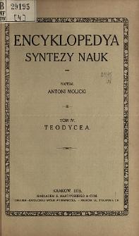 Encyklopedya syntezy nauk. T. 4, Teodycea