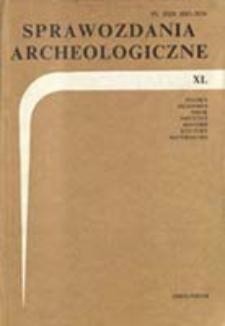 Sprawozdania Archeologiczne T. 40 (1989), Sesje i konferencje