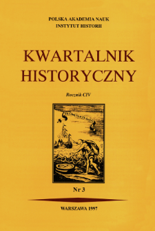 Kwartalnik Historyczny R. 104 nr 3 (1997), Title pages, Contents