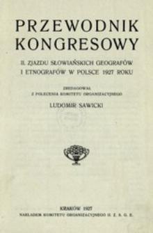 Przewodnik Kongresowy II. Zjazdu Słowiańskich Geografów i Etnografów w Polsce 1927 roku