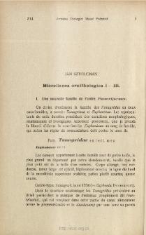 Miscellanea ornithologica. 1-3