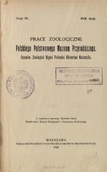 Prace Zoologiczne Polskiego Państwowego Muzeum Przyrodniczego ; t. 4 - Spis treści