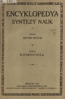 Encyklopedya syntezy nauk. T. 2, Kosmodycea