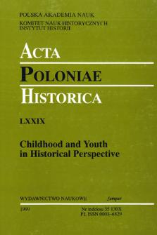 Acta Poloniae Historica. T. 79 (1999), Strony tytułowe, Spis treści