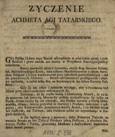 Zyczenie Achmeta Agi Tatarskiego