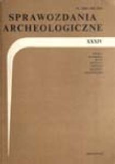 Sprawozdania Archeologiczne T. 34 (1983), Omówienia i recenzje