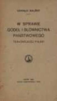 W sprawie godeł i słownictwa państwowego teraźniejszej Polski