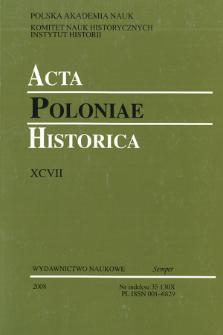 Acta Poloniae Historica. T. 97 (2008), In Memoriam