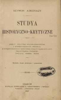 Studya historyczno-krytyczne