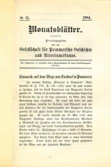 Monatsblätter Jhrg. 18, H. 11 (1904)