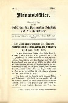 Monatsblätter Jhrg. 18, H. 9 (1904)
