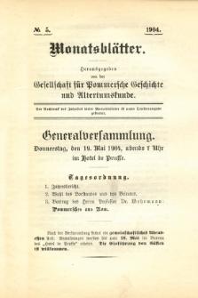 Monatsblätter Jhrg. 18, H. 5 (1904)