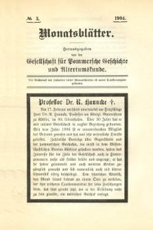 Monatsblätter Jhrg. 18, H. 3 (1904)