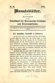 Monatsblätter Jhrg. 18, H. 12 (1904)