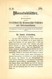 Monatsblätter Jhrg. 18, H. 10 (1904)