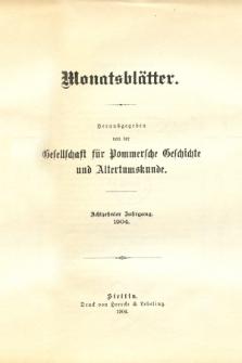 Monatsblätter Jhrg. 18, H. 1 (1904)