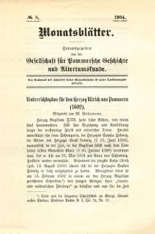 Monatsblätter Jhrg. 18, H. 8 (1904)